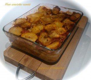 pomme de terre, gratin, recette, végétarien, sans gluten, sans lactose, alimentation vivante, assiette, santé