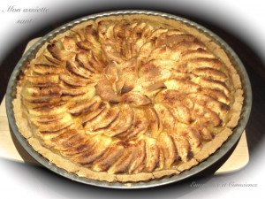 tarte aux pommes, alimentation vivante,